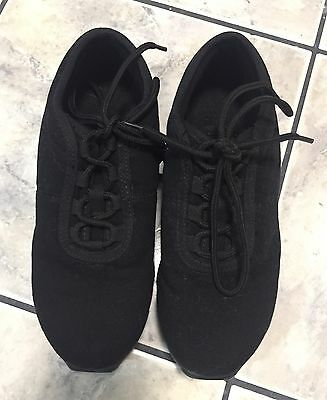 Capezio Jazz Dance Sneakers - Black Canvas Women's 7.5 - Excellent Condition!