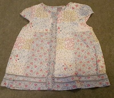 Lovely Baby Girls Tunic Top From Tu - Size 12-18 Months