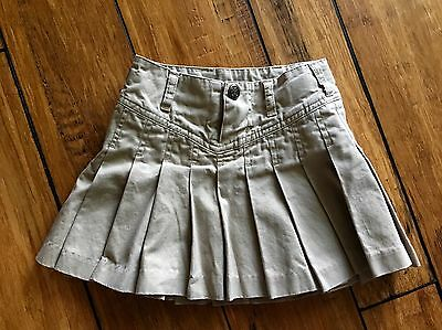 Ralph Lauren Baby Toddler Girl 2T Pleated Khaki Tan Skirt Lk Nw Classic