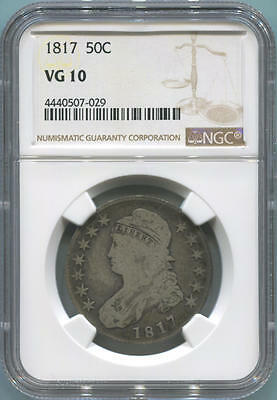 1817 Capped Bust Half Dollar, NGC VG10