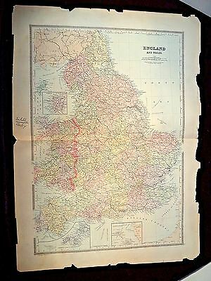 1889 Map, England & Wales, Plate 5, Bradley'S Atlas Of The World