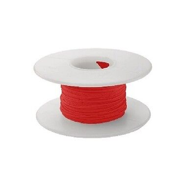 30 AWG Kynar Wire Wrap UL1423 Solid Wiremod type 100 foot spools RED NEW!