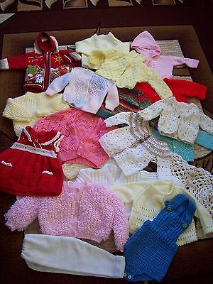 Joblot Hand Knitted Childrens/Baby Bundle Mixed Boys&Girls. 22 Pieces