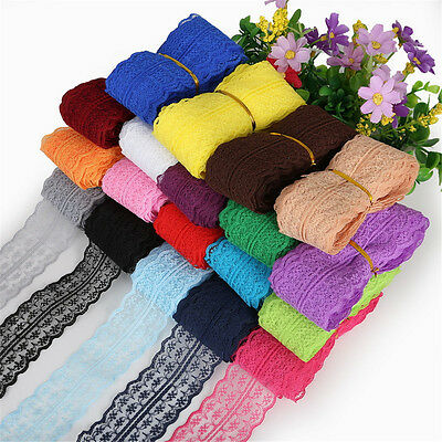 10Yards Bilateral Handicrafts Embroidered Net Lace Trim Ribbon Bow Sewing Crafts