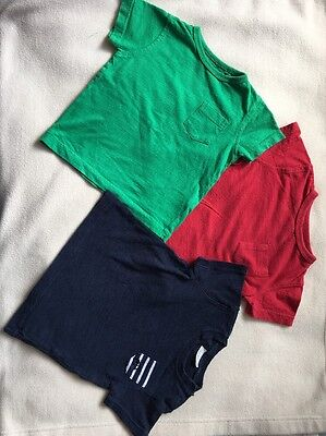 3 X Next Tops 6-9 Months Green Red Navy Baby Boys T-shirts