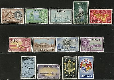 TONGA Sc#101-109, 111-113 1953 Scenic Definitives OG MH and USED