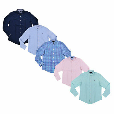 Tommy Hilfiger Buttondown Shirt Mens Long Sleeve Custom Fit Casual Collared New