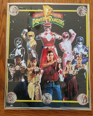 Mighty Morphing Power Rangers (RARE)Poster in Frame 1994