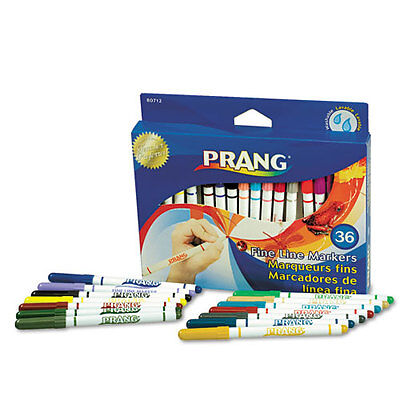 36 Dixon Prang Washable Markers Fine Point Assorted