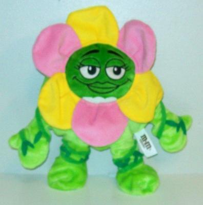 """M&M World Green Plush With Pink & Yellow Flower Daisy Petals Costume 10"""""""