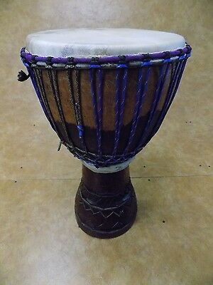 "Hand Carved 12"" Djembe"