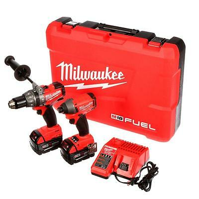 NEW Milwaukee 2797-22 M18 FUEL™ Brushless LITHIUM-ION 2-Tool Combo Kit with Case