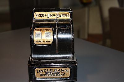 Uncle Sam's 3 Coin Register Bank, Durable Toy & Novelty Co.