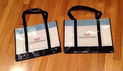 Lot of 2 Vineyard Vines 12x16 Reusable Shopping Tote Bag LARGE NEW