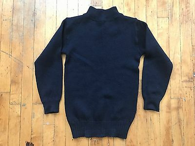 VTG WWII USN US Navy Naval Wool Sweater Watch 30's 40's S XS Pullover Turtleneck
