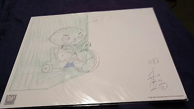 Family Guy Stewie hand-drawn Lithograph Print w/ Certificate of Authenticity
