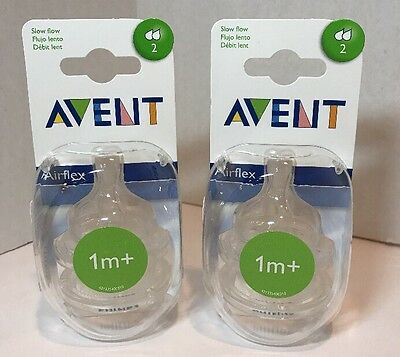 Philips AVENT BPA Free Slow Flow Classic Nipple for 1M+ (2-Pack)