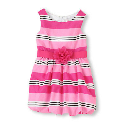 Girls Striped Bubble Dress Size 12 White Pink NWT The Children's Place