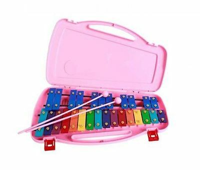SAMICK 27key Student Xylophone Instrument with Case and Mallets Pink Color UK
