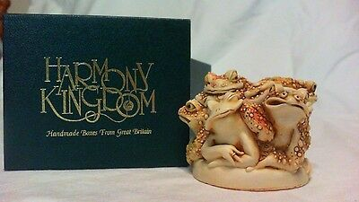 1995 Harmony Kingdom Puddle Huddle Frogs Box Figurine England Mib