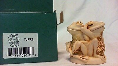 1994 Harmony Kingdom Tongue & Cheek Frogs Box Figurine England Mib