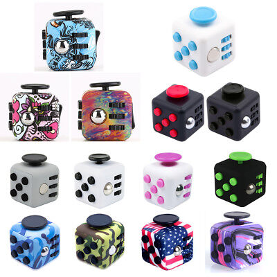 Magic Fidget Cube Anxiety Stress Relief Focus 6-side Gift Adult Kids Funny Toy