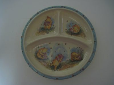 Vintage Winnie the Pooh 3-section Child's Plate by The Walt Disney Company 8.25""