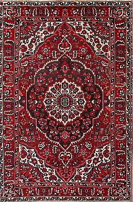 Great Condition Geometric Hand Knotted 7x10 Bakhtiari Persian Oriental Area Rug