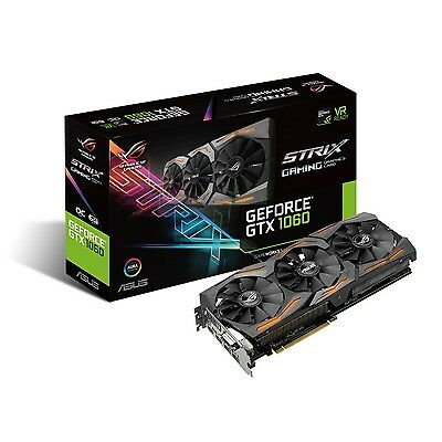 Asus nVidia GeForce GTX 1060 ROG Strix OC 6GB GDDR5 Gaming Graphics Video Card
