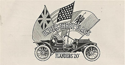 1910 Original Rare E-M-F FLANDERS 20 AD + KNOX Model S RACEABOUT RACE Winner AD