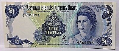 Cayman Island 1971 one Dollar Pick#1a Uncirculated Note