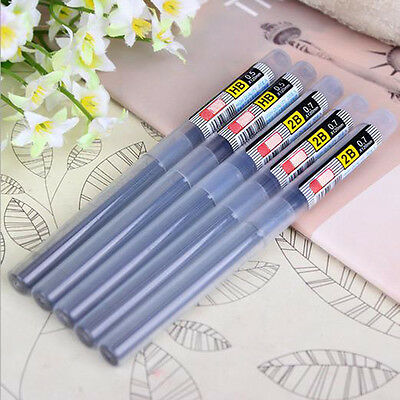 6PCs HB/2B Lead a Refill Tube 0.5 mm/0.7 mm Automatic Pencil Lead New Style 11CM