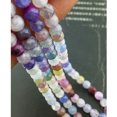 6MM Mixed color Faceted Quartz crystal loose beads 38CM string N027