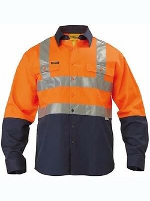 NEW Bisley Hi Vis Taped Shirt Long Sleeve BS6267T SPECIAL 2XL 3XL