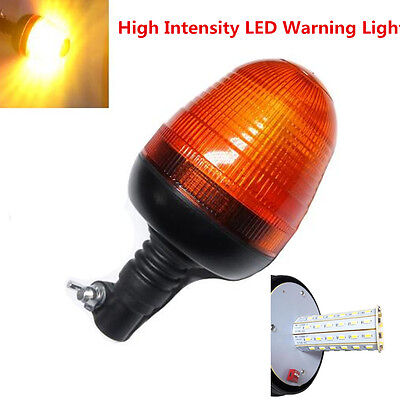 Yellow Flexible LED Warning Emergency Flash Strobe Rotating Beacon Light Motor
