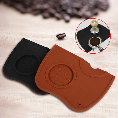Espresso Mat Coffee Tamper Tamping Holder Silicone Pad Anti-slip Dropped Edge