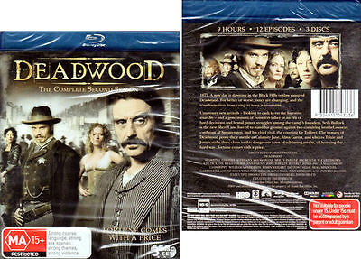 Deadwood Season 2 Two - 3 Blu-ray Disc Set - NEW & SEALED