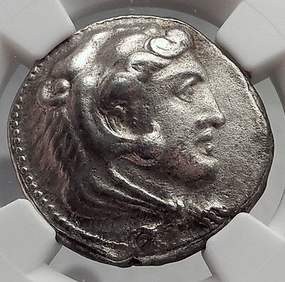 ALEXANDER III the GREAT 325BC Ancient Silver Greek Tetradrachm Coin NGC i61934
