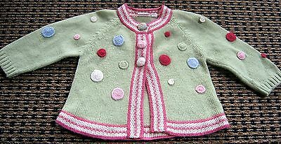 Jack And Milly Baby Girls  Wool Blend  Cardigan Sz  0