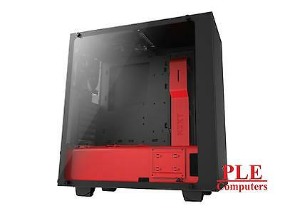 NZXT Source 340 Elite Black/Red Mid Tower w/Side Window[CA-S340W-B4]