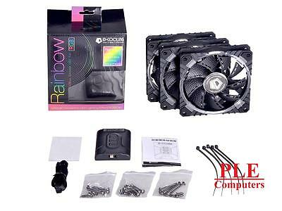 ID-COOLING Rainbow RB-12025 120MM RGB LED Fan 3 Pack[RB-12025]