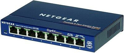 Netgear GS108 ProSafe 8-Port Unmanaged Gigabit Ethernet Switch[GS108AU-100AUS]