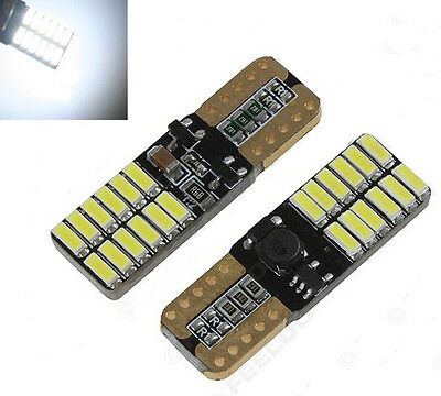 LED T10 W5W CANBUS 24 SMD 3014 Lampe Glassockel Weiß Auto Innenraum Beleuchtung