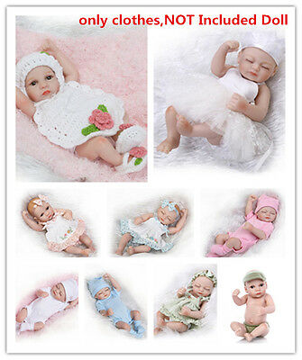 """Newborn Baby Clothes Set For 10-11"""" Reborn Boy Girl Outfit , NOT Included Doll"""