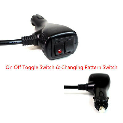 """7/"""" Cigar Lighter Socket Connector With Changing Pattern /& On Off Toggle Switch"""