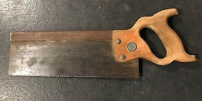 """HENRY DISSTON & SONS Antique Old Vintage Brass Hand Saw Tool 14"""" Blade SHARP"""