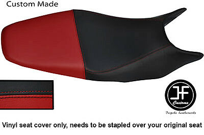 Black & Dark Red Vinyl Custom For Honda Hornet Cb 600 98-01 Dual Seat Cover Only