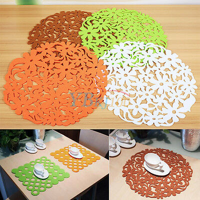 Felt Table Placemats Coaster Tablemats Home Kitchen Dinner Decoration