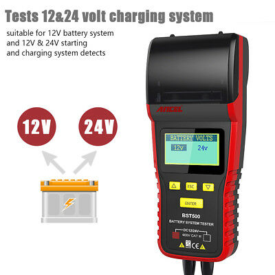 With Printer 12V 24V Car & Heavy Truck Battery Tester Charge System Test BST500