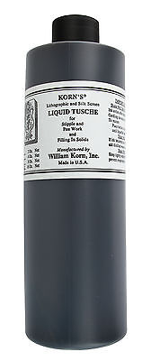 Korn's : Lithographic Liquid Tusche : 16oz (454ml)